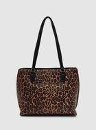Leopard Print Tote, Black