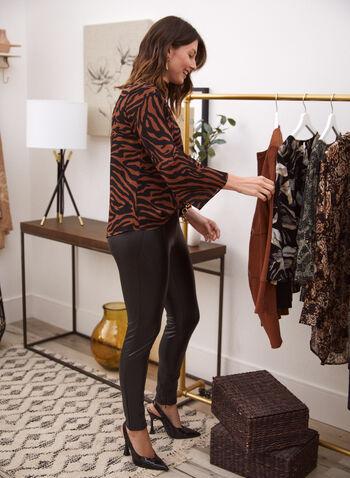 Vegan Leather Leggings, Black,  legging, vegan leather, faux leather, pull-on, zipper, fall winter 2020
