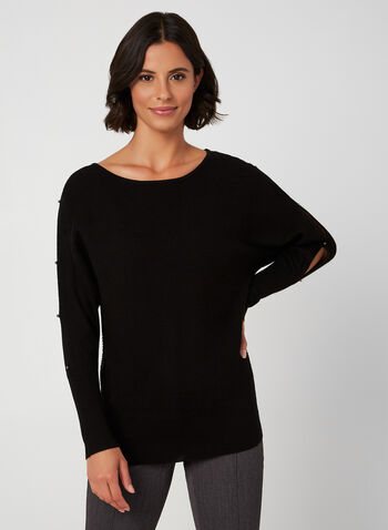 Dolman Sleeve Sweater, Black, hi-res,  sweater, knit, dolman sleeves, ribbed, fall 2019, winter 2019
