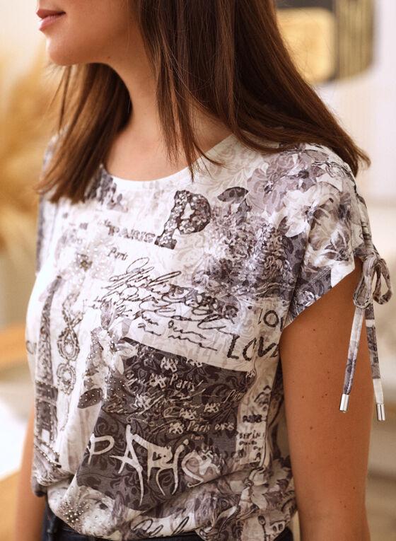 Paris Burnout Print T-Shirt, Black