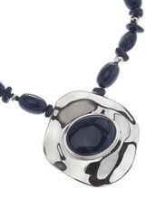 Two-Tone Pendant Necklace, Blue, hi-res