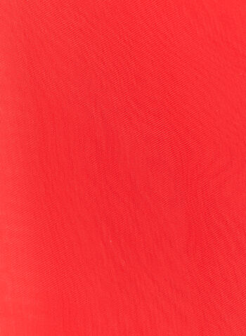 Solid Colour Chiffon Wrap, Red, hi-res