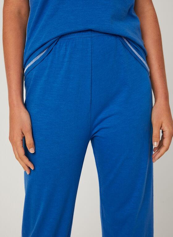 Bellina - Pyjama deux pièces à broderies coeur , Bleu, hi-res