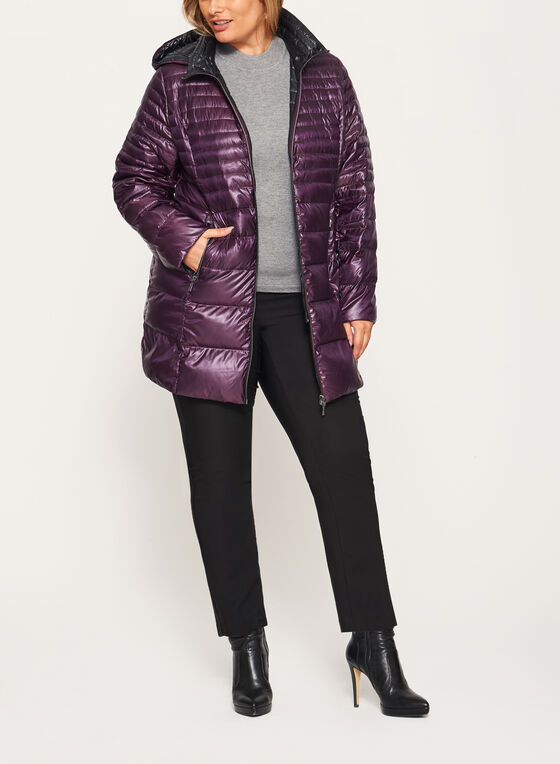 Nuage - Lightweight Packable Down Coat, Purple, hi-res