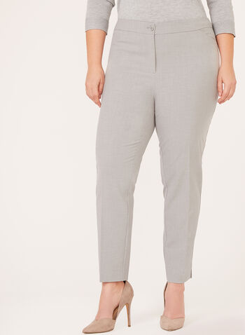Modern Fit ⅞ Straight Leg Pants , Grey, hi-res