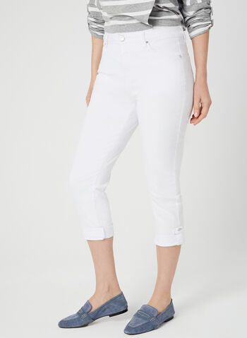 Simon Chang - Signature Fit Capri Jeans, White, hi-res