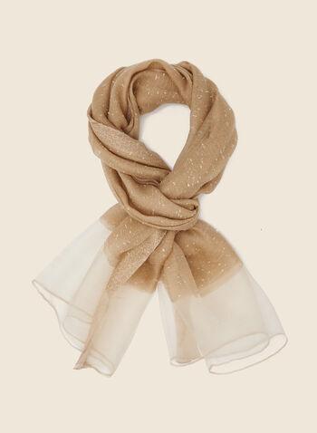 Châle léger moucheté, Blanc cassé,  foulard, léger, moucheté, pashmina, automne hiver 2020