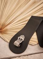 Textured Clasp Belt, Black