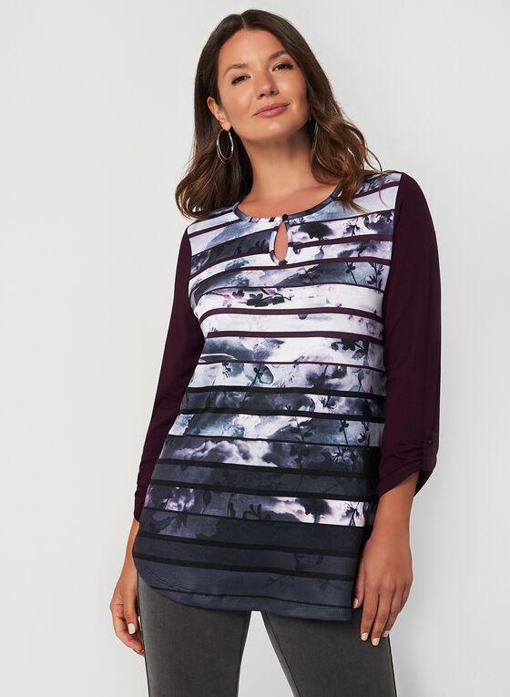 3/4 Sleeve Top, Purple