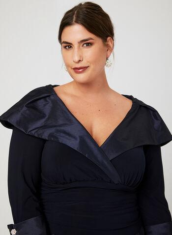High Low Jersey Taffeta Dress, Blue, hi-res