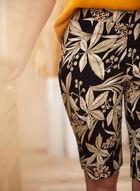 Tropical Floral Bermuda Shorts, Green
