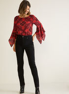 Embellished Straight Leg Jeans, Black