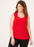 Sleeveless Scoop Neck Top , Red, hi-res