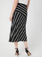 Stripe Print Midi Skirt, Black, hi-res