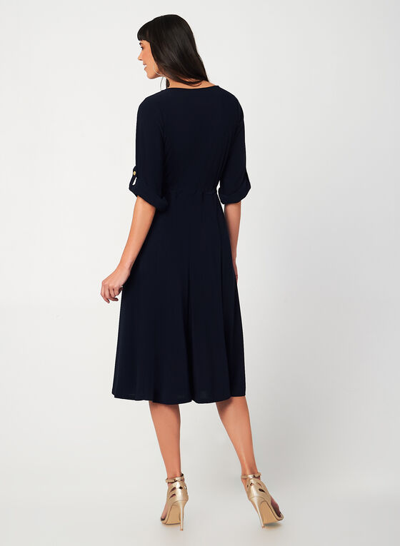 Jersey Midi Dress, Blue, hi-res