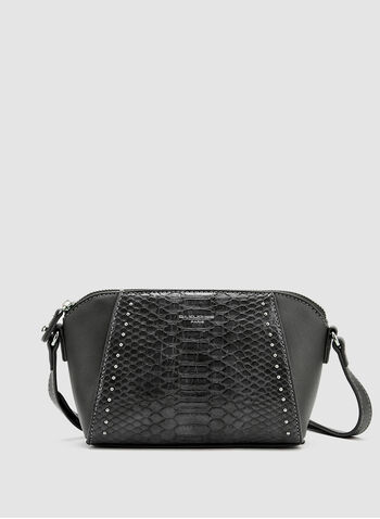 David Jones Paris - Snakeskin Shoulder Bag, Grey, hi-res