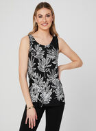Sleeveless Jersey Top, Black, hi-res
