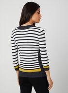 Stripe Print Sweater, Grey, hi-res