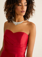 Strapless Sweetheart Neck Ball Gown, Red