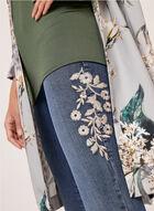 Frankie & Stella - Jean à jambe étroite et broderies florales, Bleu, hi-res