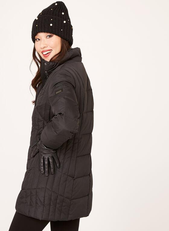 Novelti - Reflective Quilted Down Coat, Black, hi-res