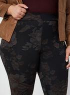Pantalon coupe moderne à fleurs, Noir, hi-res
