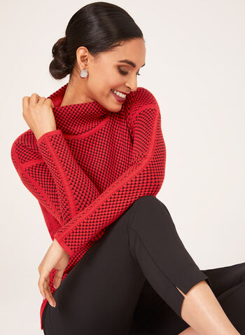 Elena Wang - Cowl Neck Sweater, Red, hi-res
