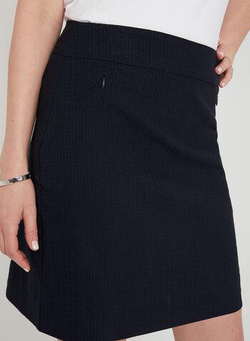 Mode de Vie - Jupe-short texturée , Bleu, hi-res,  jupe, short, courte, texturée, zips, poches, printemps été 2019