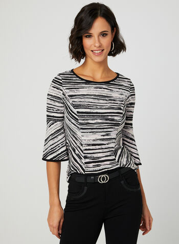 Abstract Print Jersey Top, Multi, hi-res