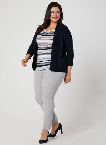Textured Edge To Edge Cardigan, Blue,  open-front sweater, viscose cardigan, rayon cardigan, knit cardigan