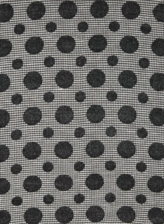Dot Print Houndstooth Scarf, Black