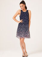 Sleeveless Chiffon Dress, Blue, hi-res