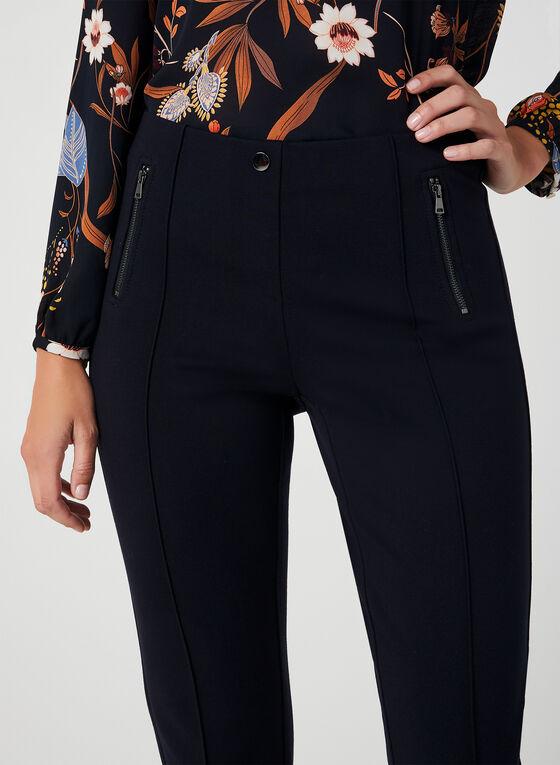 City Fit Zipper Detail Pants , Blue