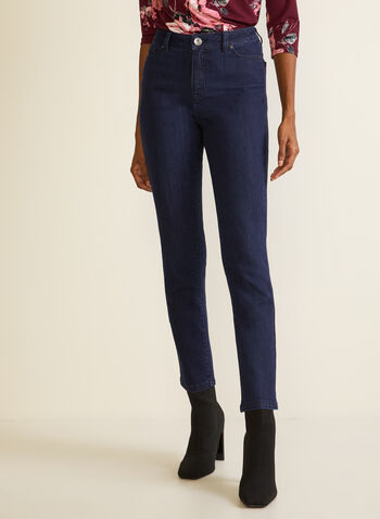 Straight Leg High Rise Jeans, Blue,  jeans, straight leg, pockets, high rise, fall winter 2020