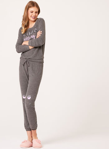 Pillow Talk - Jersey Knit Pajama Set , , hi-res
