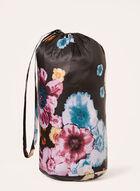 Nuage - Manteau matelassé en duvet compressible à fleurs, Noir, hi-res