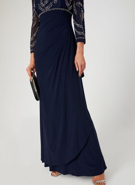 Robe à taille empire avec billes, Bleu, hi-res