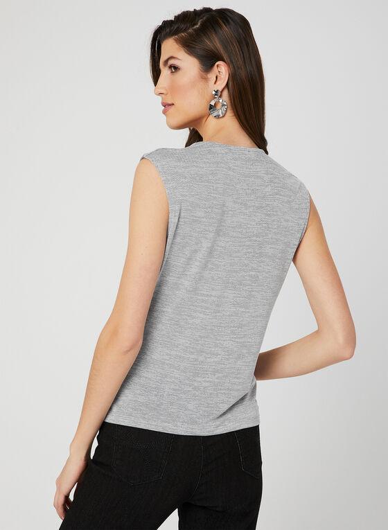 Textured Sleeveless Top, Black