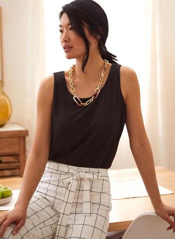 Sleeveless Crepe Blouse, Black,  blouse, sleeveless, crepe, scoop neck, spring summer 2020