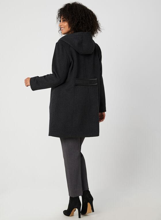 Portrait - Manteau mi-long à plastron, Gris, hi-res