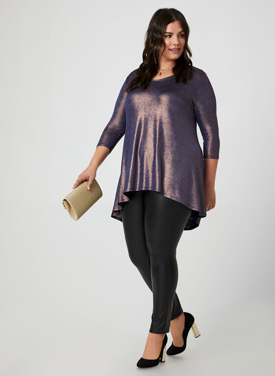 Metallic Tunic, Blue