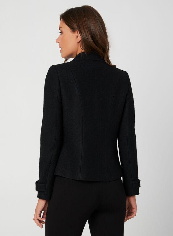 Veste en laine mélangée, Noir