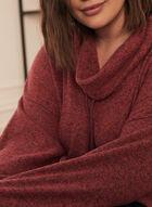 Haut en tricot avec col à cordon , Rouge
