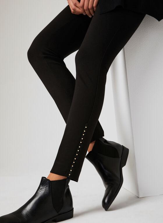 Modern Fit Beaded Trim Pants, Black, hi-res