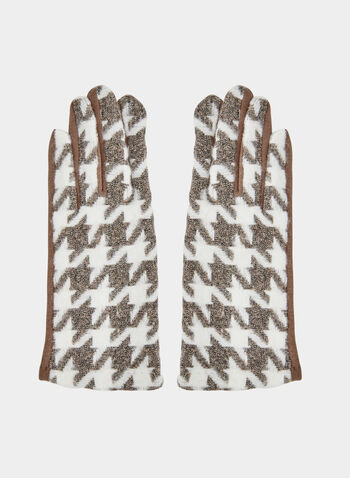 Houndstooth Print Gloves, Off White,  gloves, houndstooth print, houndstooth gloves, cotton gloves, fall 2019, winter 2019