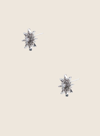 Star Stud Earrings, Silver,  earrings, studs, crystals, star, spring summer 2020