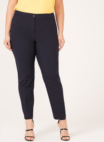 Modern Fit ⅞ Straight Leg Pants , Blue, hi-res