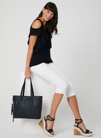 Signature Fit Capri Pants, White, hi-res