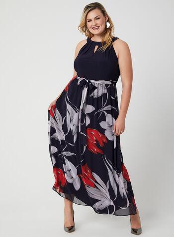 Cleopatra Neck Maxi Dress, Blue, hi-res,  long dress, evening gown, halter neck dress, halter top dress, chiffon skirt
