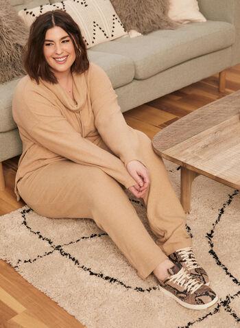 Sweater Knit Pull-On Pants, Beige,  pants, pull-on, sweater, knit, slim leg, fall winter 2020
